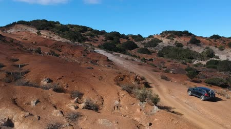 canário : A Car in the Nature of La Gomera from above Stock Footage