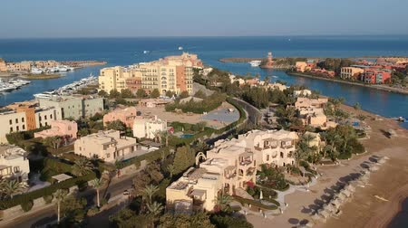 archeologie : View of modern city El Gouna in Egypt