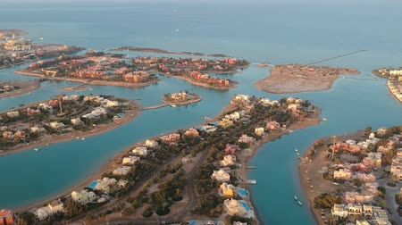 salamura : Landscape view of modern city El Gouna in Egypt Stok Video