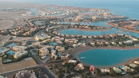 régészet : View of modern city El Gouna in Egypt