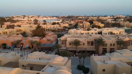 régészet : Landscape city view of modern city El Gouna in Egypt