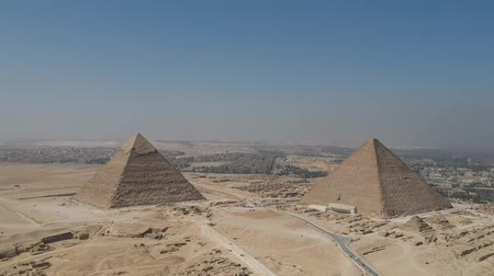 egyiptomi : Landscape view of Great Pyramids of Giza near Cairo (Egypt)