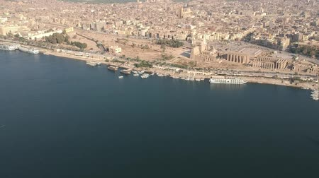 nílus : View of Nile river in Egypt near Luxor