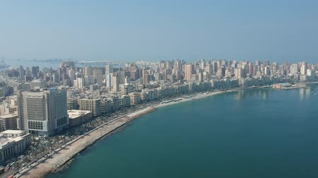 Нил : View of the skyline of Alexandria, Egypt Стоковые видеозаписи