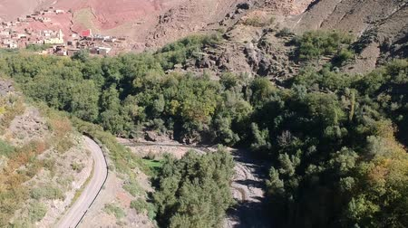 işe : Beautiful Nature of Morocco near Imlil and Mountain Toubkal by Drone from above