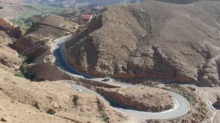 kumul : Flying over a street near Dades Gorges in Morocco