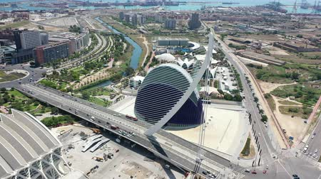 peoples : Flying over Bridge in Valencia and Spain with Drone in 4k