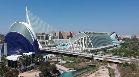 peoples : Flying over City of Arts and Sciences at Valencia and Spain with Drone
