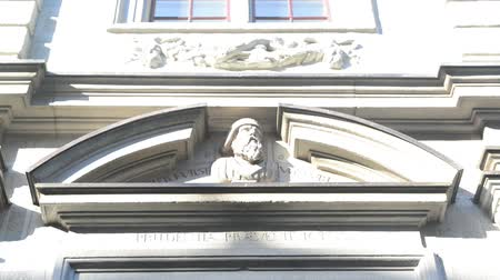 entrance : Beautiful decorative building in Zurich, Switzerland. Old architecture