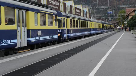 kolej : The train in swiss alps , Switzerland Wideo