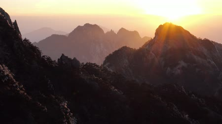 pinus : Mountain Huangshan, Anhui, China. Stock Footage