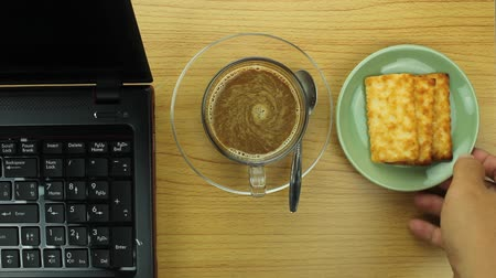 snack : take a coffee break Stock Footage