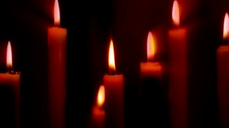luz de velas : Velas Archivo de Video