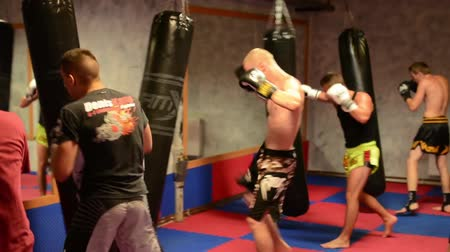 guarda costas : men do sport - combat sports (boxing in the bag) - in gym