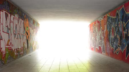 konec : pedestrian underpass - light at end of tunnel