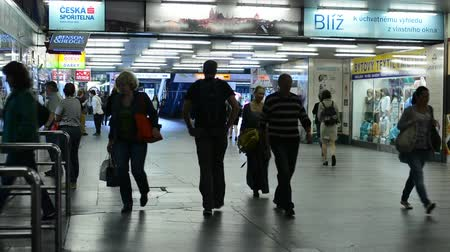subway : commuter people - people walking in the subway Stock Footage