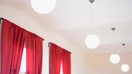 электричество : interior - lamps (lights) - red curtain