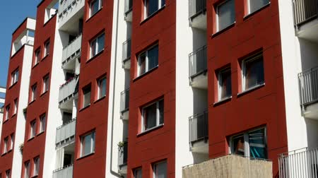 bordo : CZECH REPUBLIC, PRAGUE - JULY 3, 2015: The new prefab houses in the housing estate