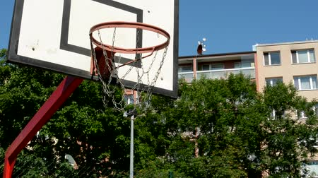 arrabaldes : view of the basketball hoop in the suburb - detail