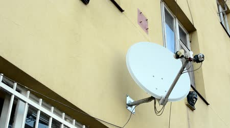 satelite : satellite on the wall near by window with the bars Wideo