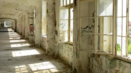serra : CZECH REPUBLIC, PRAGUE - JULY 10, 2015: view of the diry and deserted room in the old building - vandalism