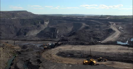 шахта : Coal mine works  time lapse