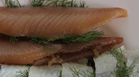 arenque : Salted herring with caviar