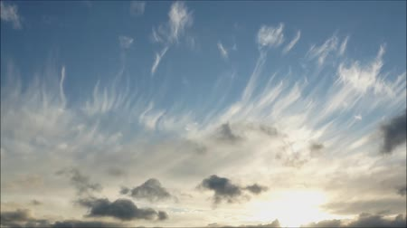 kevert faj : Rare and special clouds cirrus and cirostratus and sky