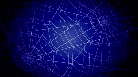 tuzak : white concentric cobwebs jump sharply and stick on a blue background
