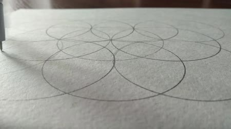 geometry compass : compasses draw a circle on a piece of paper