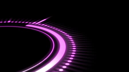 seamless loop : pink equalizer on a black background, circle rotation Stock Footage