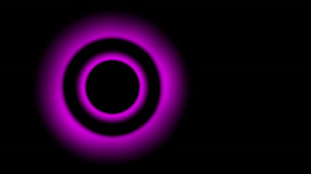 pulsating equalizer rings, pink neon on a black background