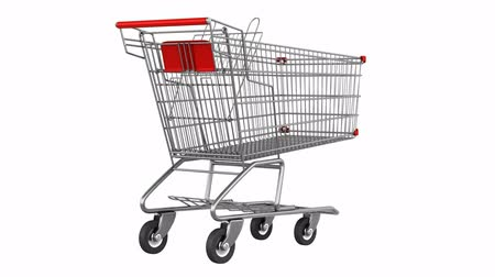 kordé : empty shopping cart loop rotate on white background