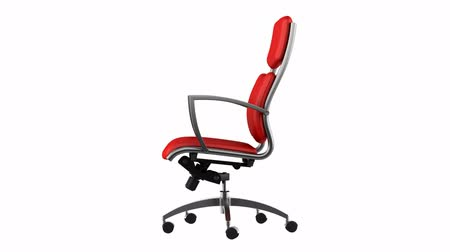 cadeira : modern red office chair loop rotate on white background