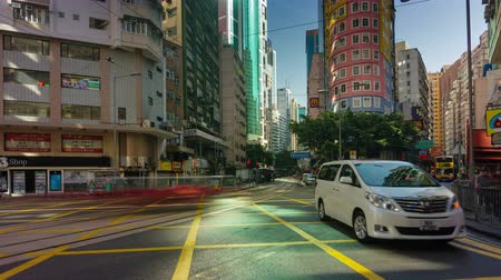 bloklar : 4k time lapse of extremely busy traffic street in hong kong