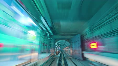 путешествие : guangzhou metro tunnel ride 4k time lapse china