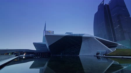 metropolitní : guangdong science center twilight panorama 4k time lapse china Dostupné videozáznamy