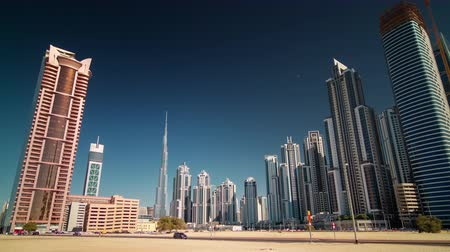 эмираты : summer dubai city business bay panorama 4k time lapse uae