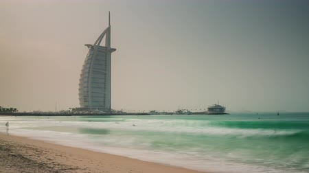 luxe : day light world famous dubai city seven star hotel 4k time lapse uae