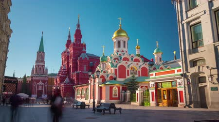 moscow panorama : moscow famous tourist street red square summer light 4k time lapse russia