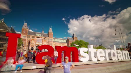 holandês : amsterdam city photo famous symbol museum 4k time lapse netherlands