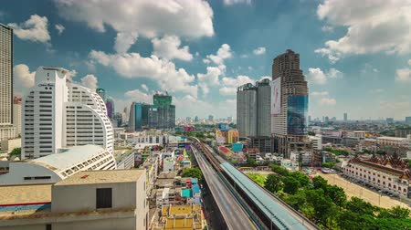 tráfego : sunny day bangkok traffic road roof top panorama 4k time lapse thailand Vídeos