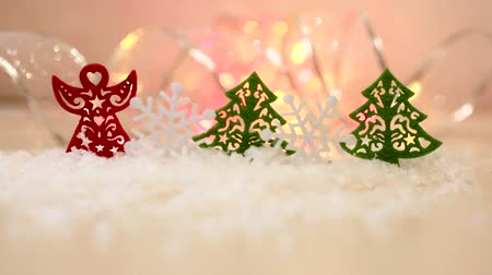 оформление : Christmas or New Year greeting background with toys