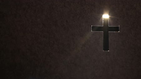 inspiradora : religious and inspiration background with cross illustration for Christian holidays and place for text Stock Footage