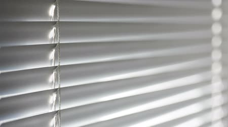 persiana : texture closed aluminum blinds in the office