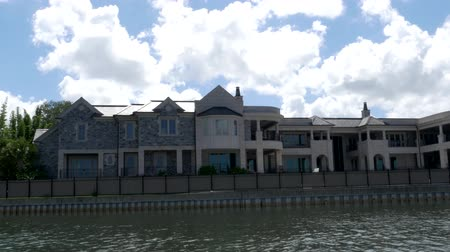 private museum : View of Jeters Tampa Mansion from the water, 4K Stock Footage