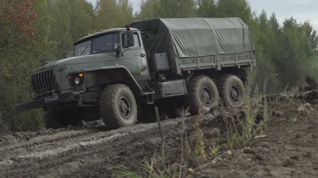 water display : Army Staff Russian truck driving on dirt road