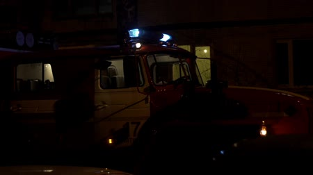 hasič : fire truck emergency lights and siren