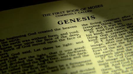 defter : bible opening to book of genesis