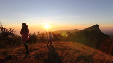 горный хребет : morning Light peak mountain monjong ChiangMai Thailand